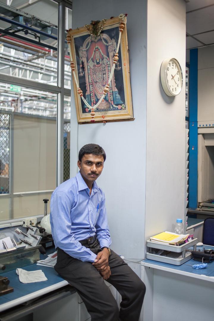 Angestellter bei Bosch in Bangalore, Indien
