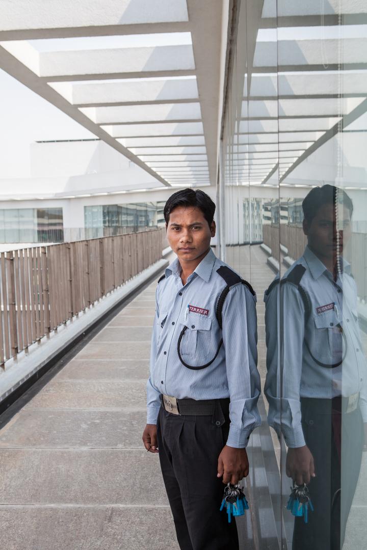 Sicherheitsangestellter, Indien