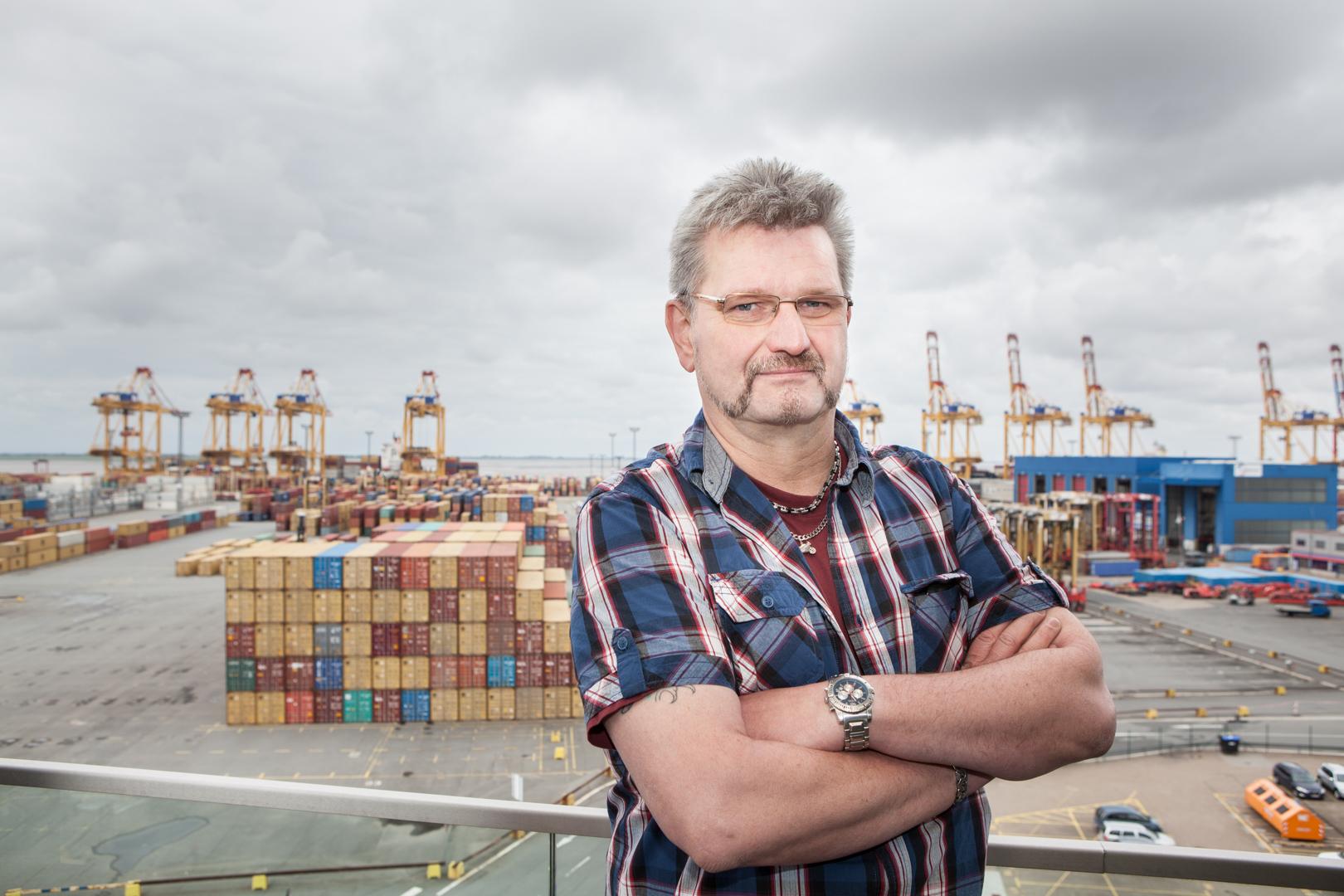 Karl-Heinz Dammann Vorsitzender des Konzernbetriebsrates Eurogate GmbH, Bremerhaven