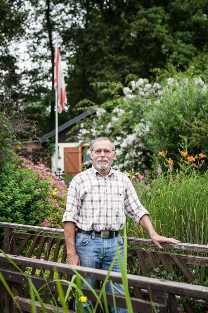 Kleingartenbesitzer Paul Thomisch in Bremen