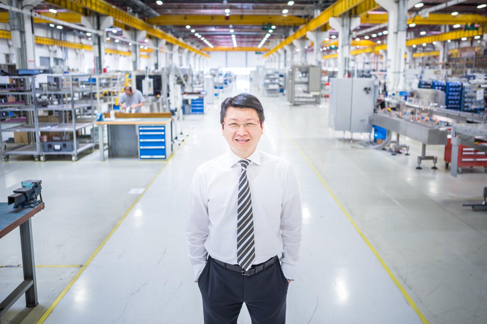 Chef eines Werkes von Bosch in Hangzhou, China