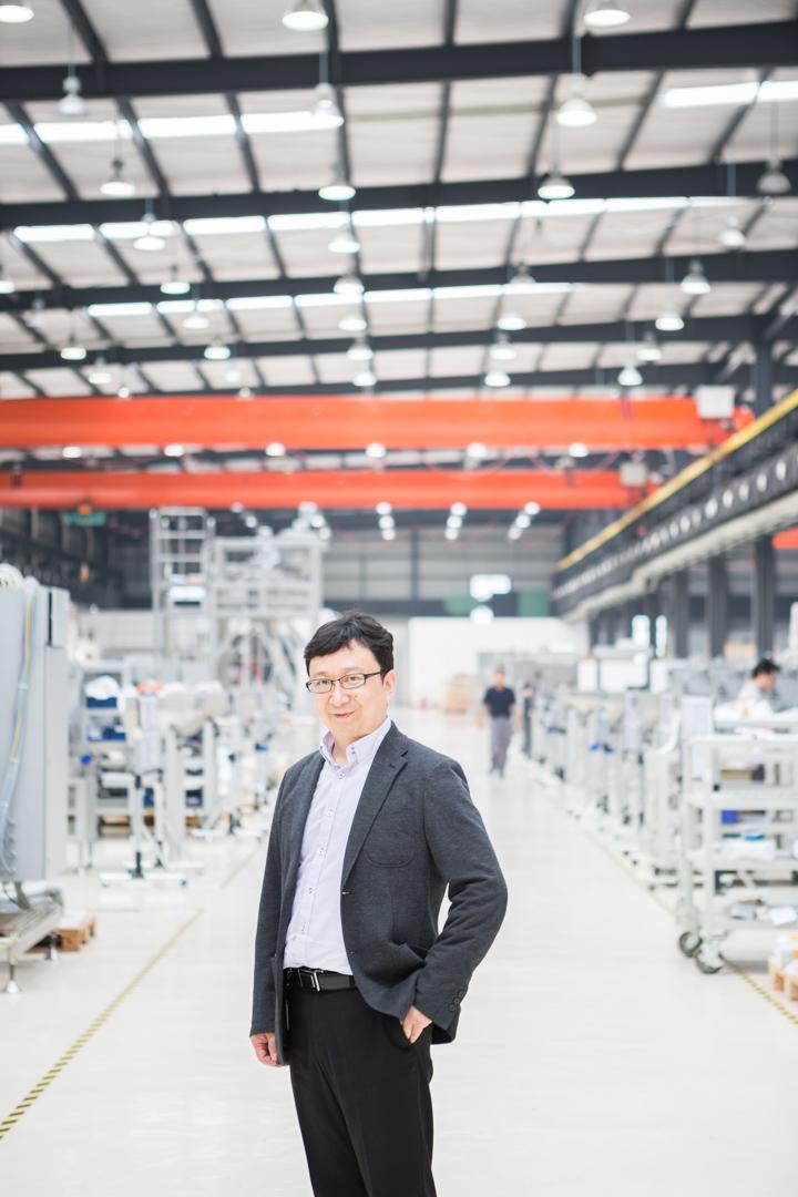 Chef eines Werkes von Bosch in der nähe von Chengdu, China